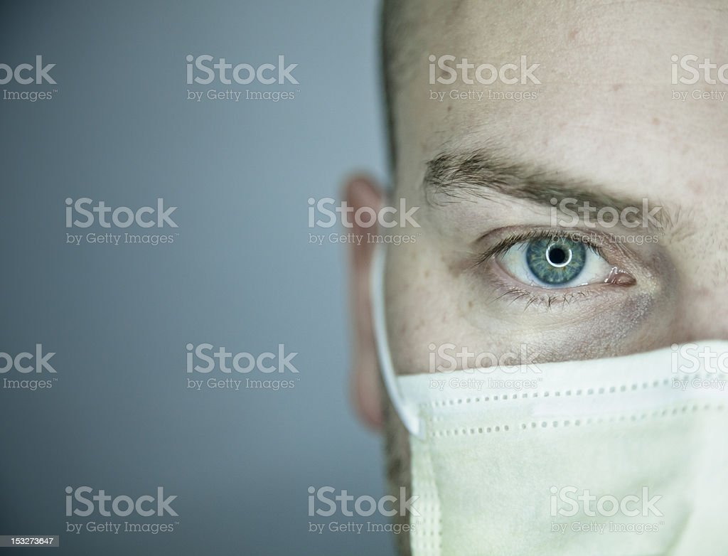 Doctor or Patient Eye Looking at You royalty-free stock photo