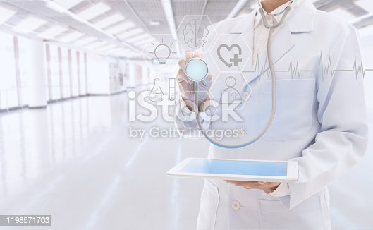 845455852 istock photo Doctor or physician using digital tablet 1198571703