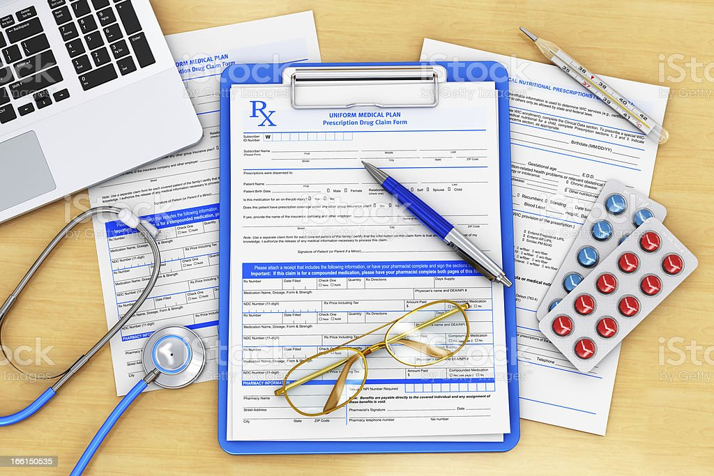 Doctor paperwork royalty-free stock photo