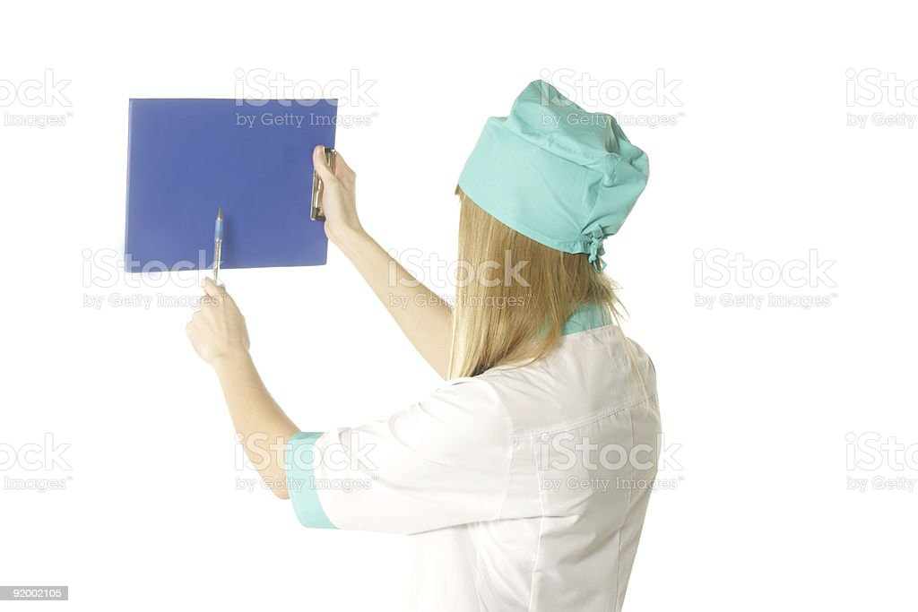 Doctor pointing stock photo
