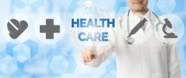 arzt-punkte im gesundheitswesen, medizinische symbole. - arzt zitate stock-fotos und bilder