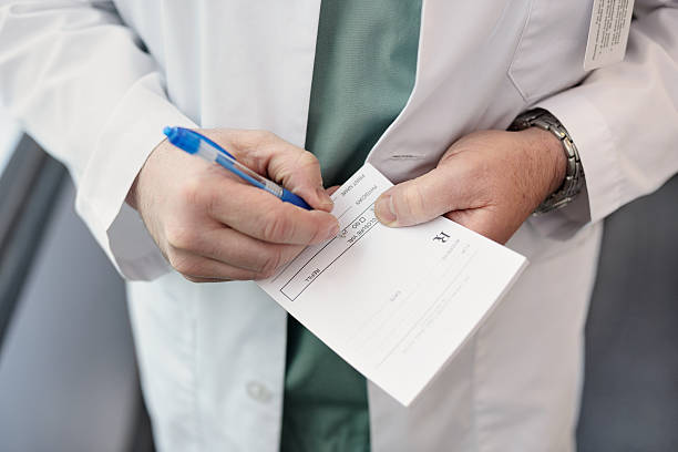 Doctor prescription stock photo