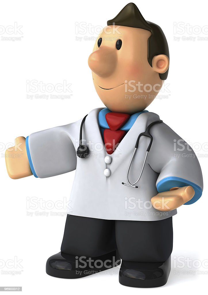 Doctor presents royalty-free stock photo
