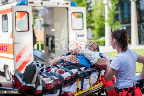istock Doctor providing first aid 841899920