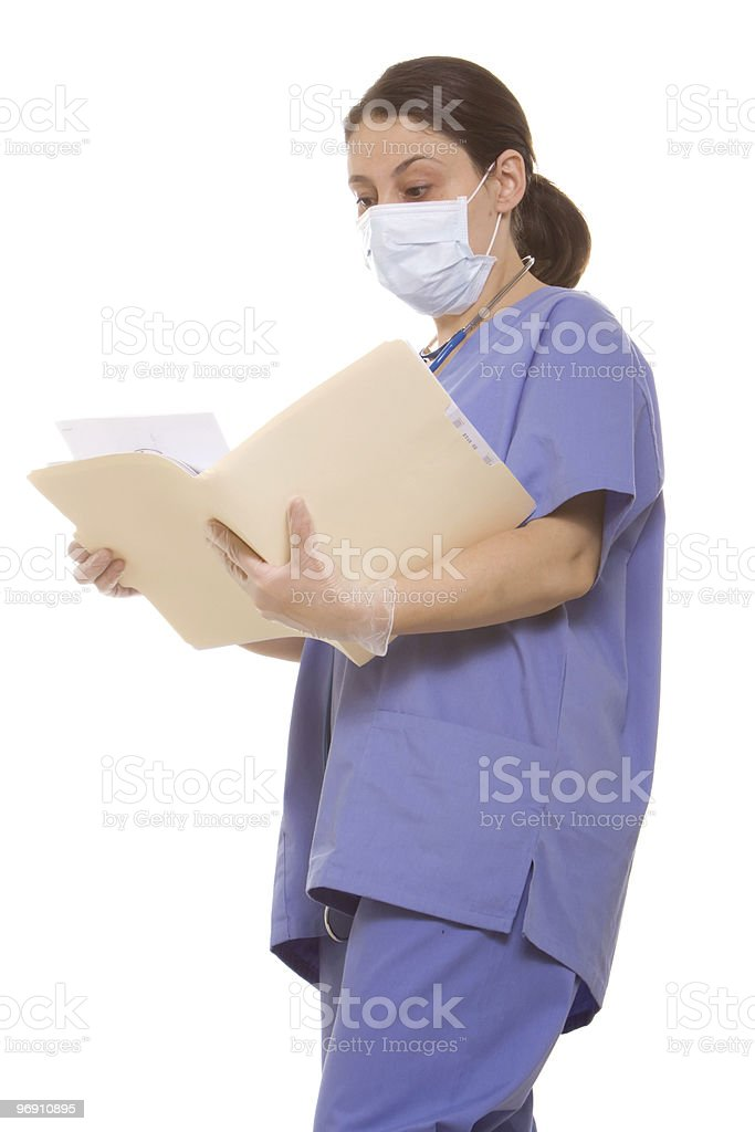 Doctor reading a chart royalty-free stock photo