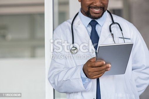 istock Doctor reading medical report 1189303638