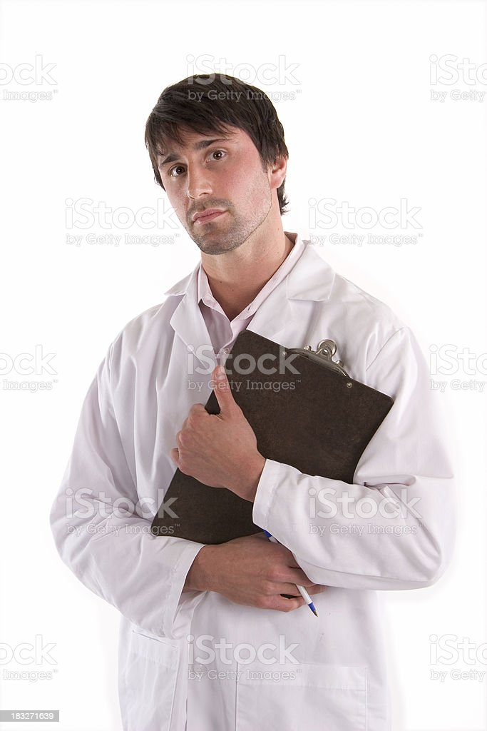Doctor - Serious royalty-free stock photo