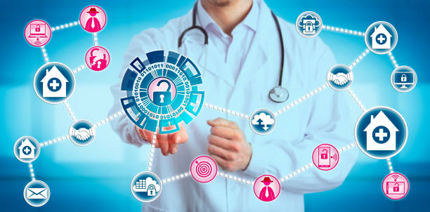 Doctor Sharing Data Is Exposed to Vulnerability stock photo