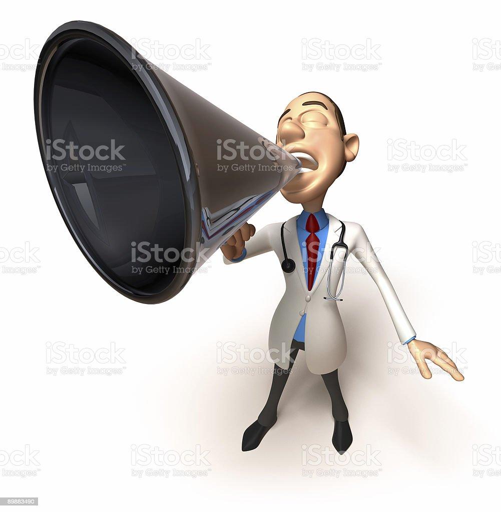 Arzt mit Lautsprecher Lizenzfreies stock-foto