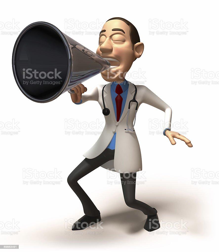 Doctor speaker royalty-free stock photo