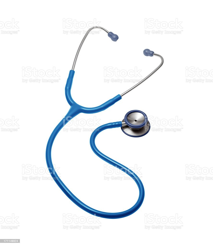 Doctor stethoscope on a white background stock photo