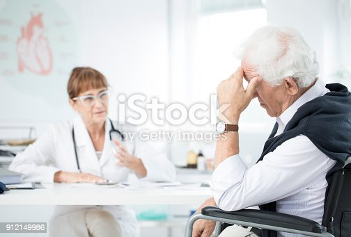 istock Doctor talking to patient 912149986