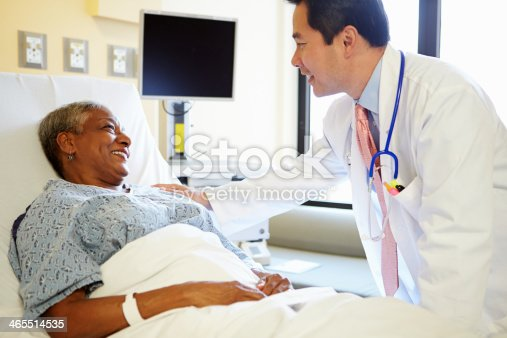 istock Doctor Talking To Senior Woman In Hospital Room 465514535