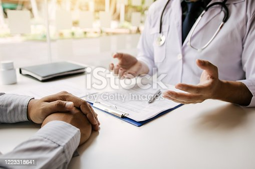 1026367516 istock photo Doctor talking to the patient about menopause and treatment in future. 1223318641