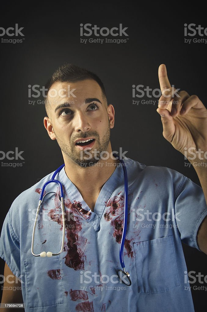 Doctor Thinking royalty-free stock photo