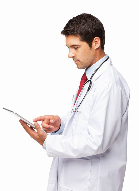 Doctor Using a Digital Tablet - Isolated stock photo