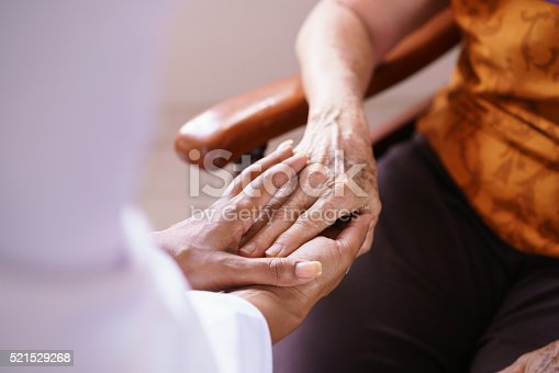 istock Doctor Vising Senior Woman In Old People Home 521529268