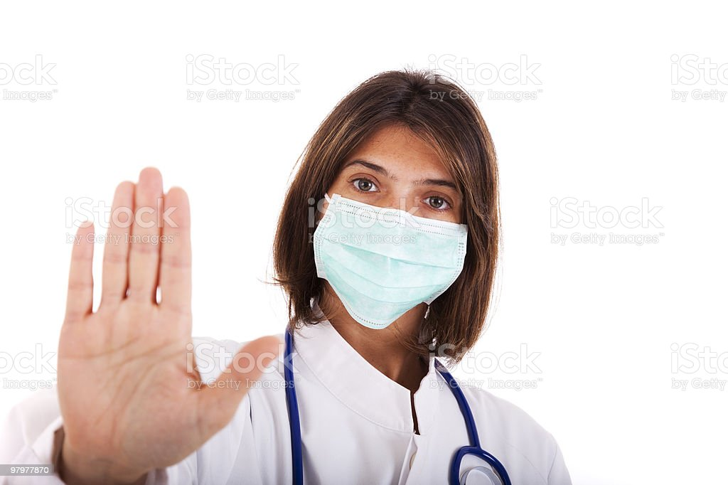 Doctor warning royalty-free stock photo