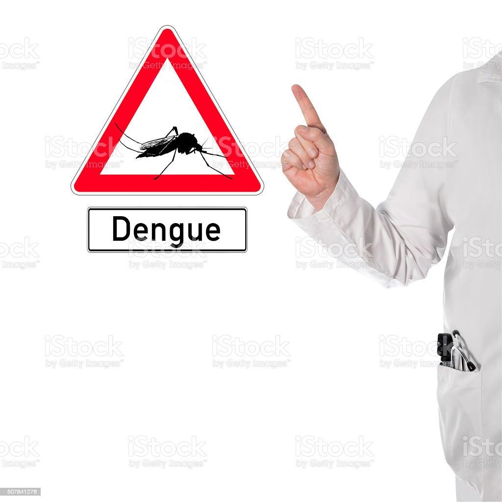 Doctor warns of dengue stock photo