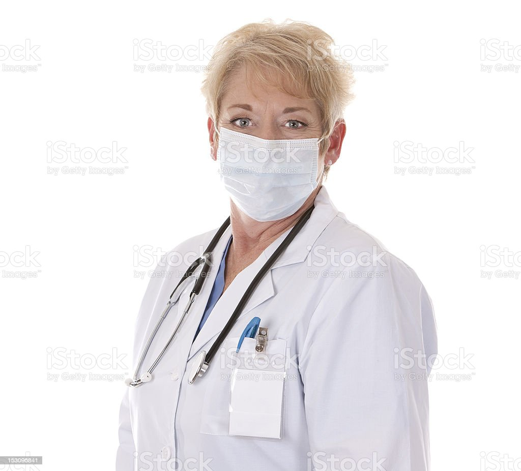 doctor wearing a mask royalty-free stock photo