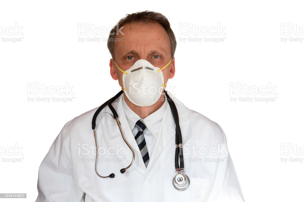 Doctor Wearing Cloth Face Mask - Royalty-free Doctor Stock Photo