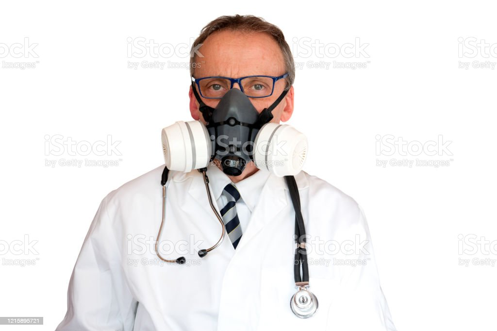 Doctor Wearing double filter Face Mask - Royalty-free Adult Stock Photo