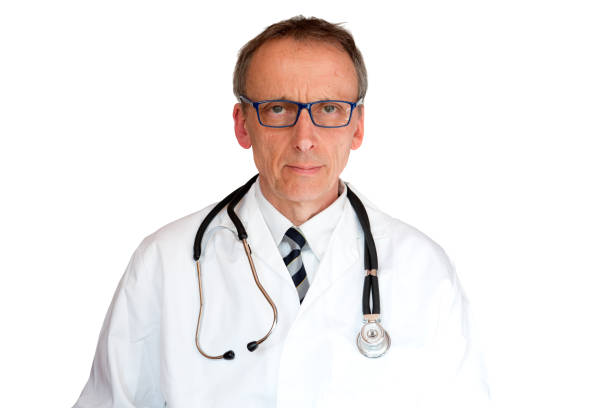 Doctor Wearing Eyeglasses stock photo
