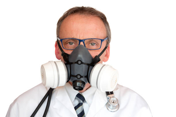 Doctor Wearing Face Mask stock photo