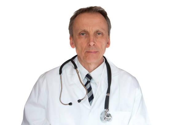 Doctor Wearing Labcoat stock photo