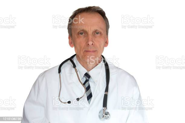 Doctor Wearing Labcoat Stock Photo - Download Image Now