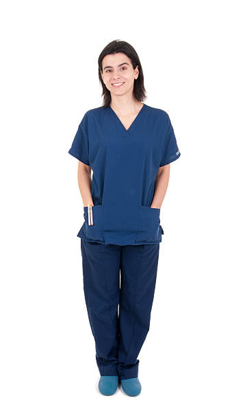 Doctor wearing uniform stock photo