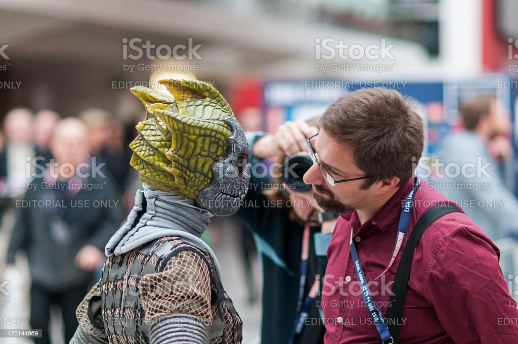 Doctor Who Celebration 2013 - Silurian Portrait stock photo