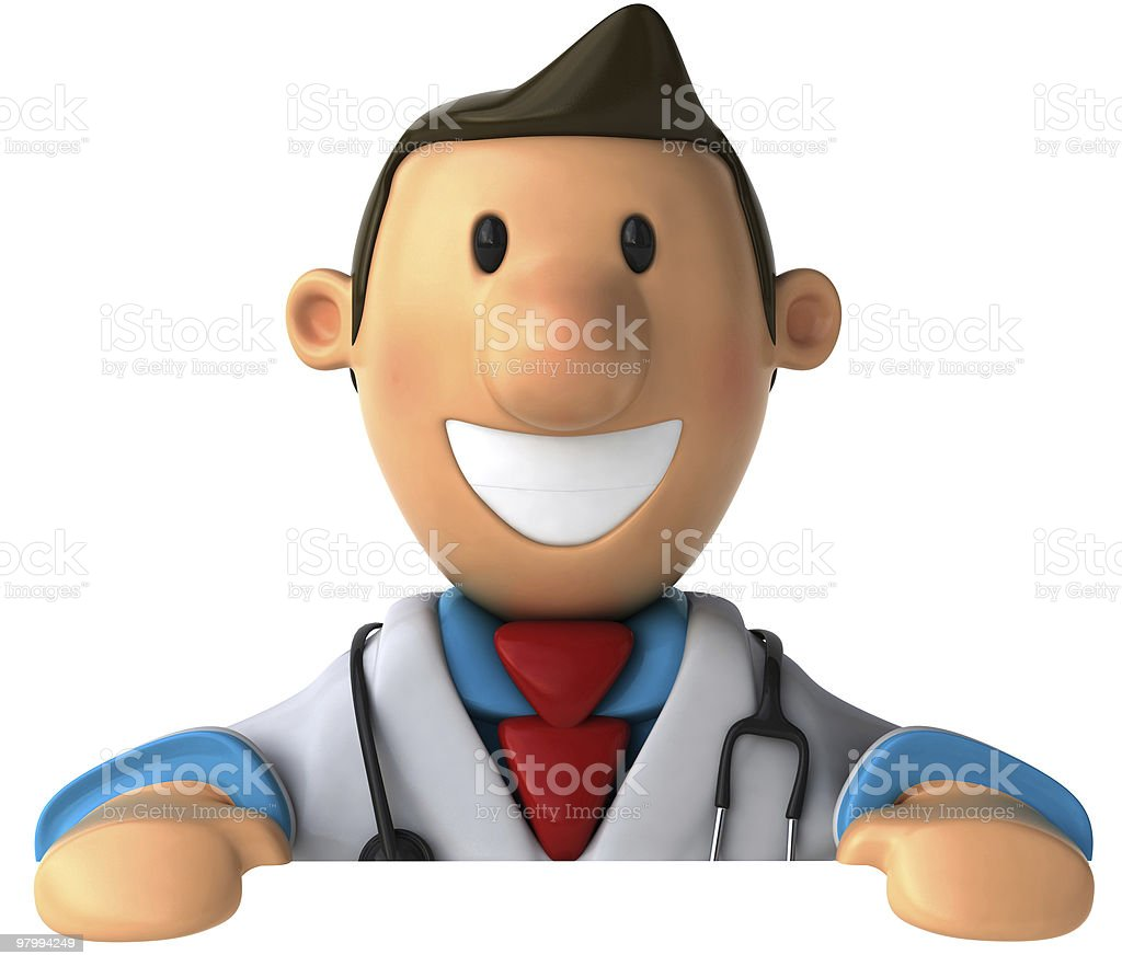 Doctor with a blank sign royalty-free stock photo