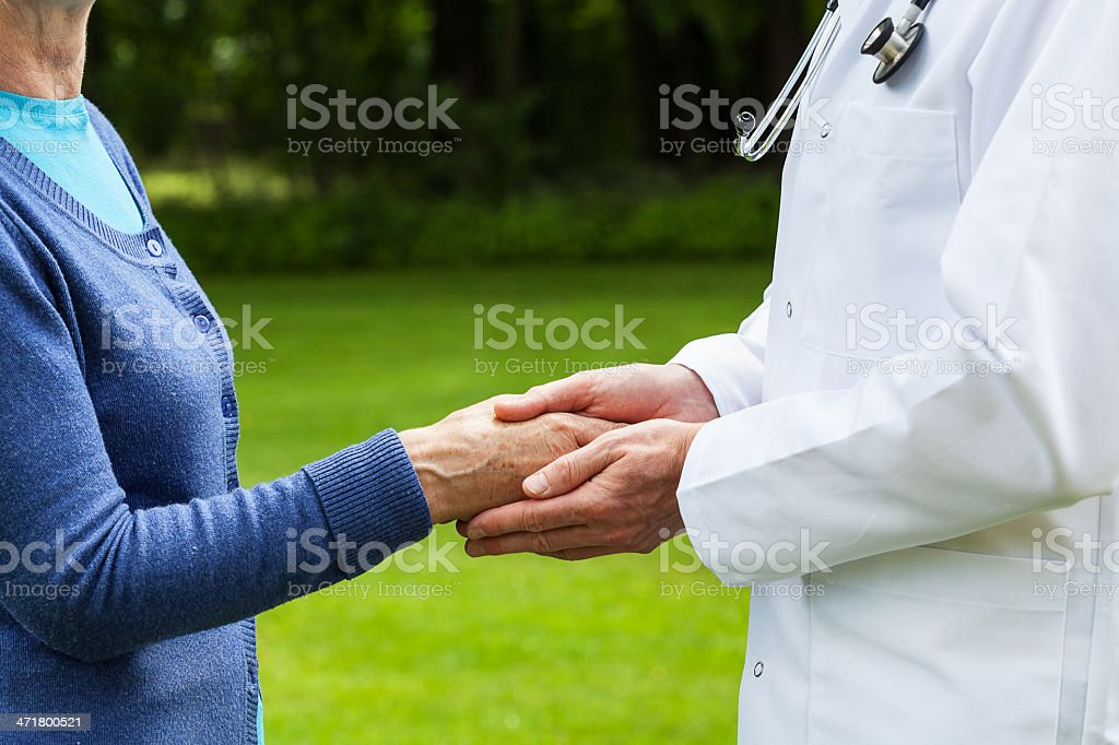 Doctor with a patient royalty-free stock photo