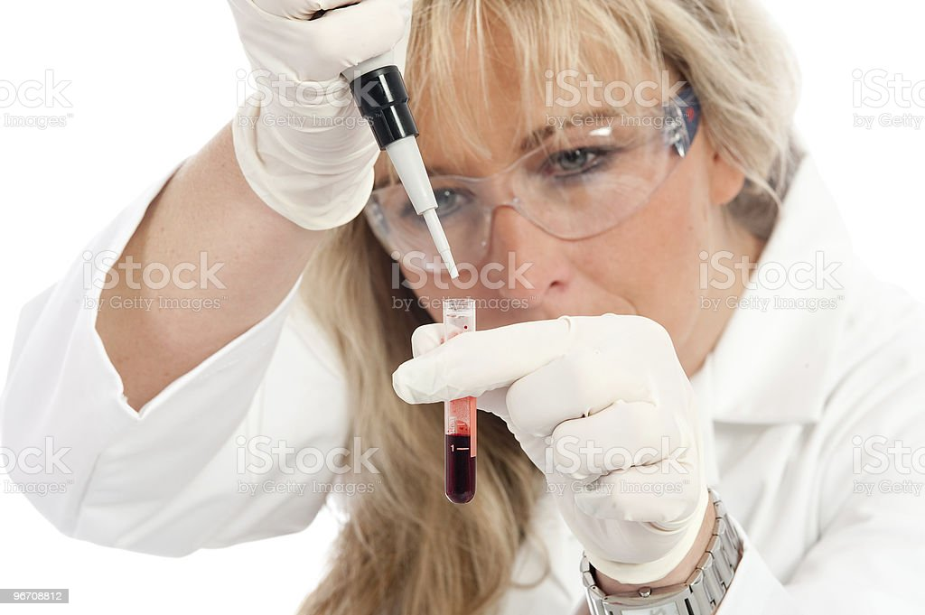 Doctor with Blood Extraction royalty-free stock photo
