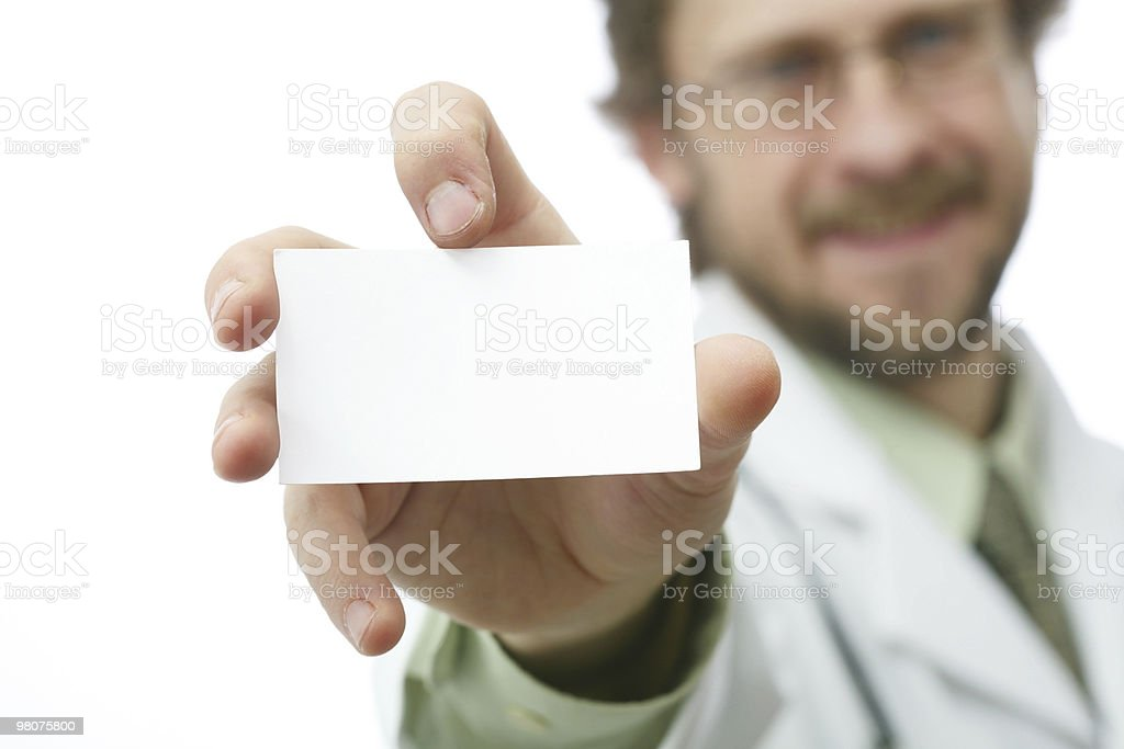 Doctor with card royalty-free stock photo