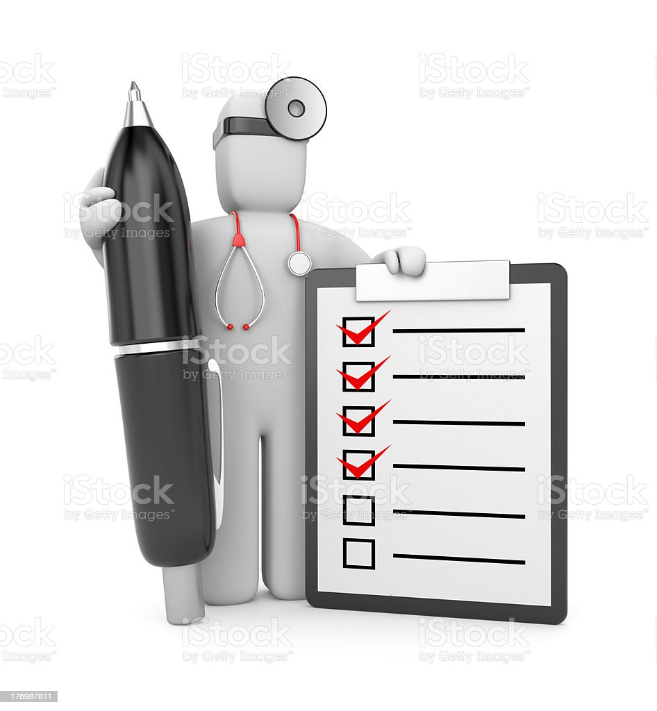 Doctor with clipboard and pen royalty-free stock photo