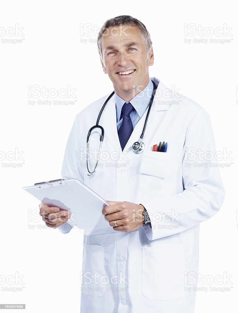 Doctor with clipboard royalty-free stock photo
