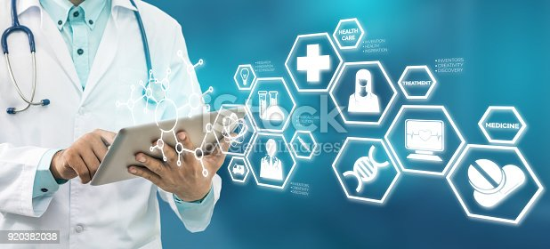 920406470 istock photo Doctor with Medical Science Icon Modern Interface 920382038
