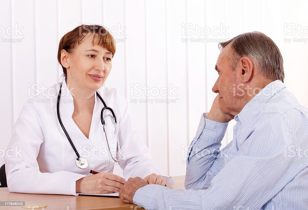 Doctor with  patient royalty-free stock photo