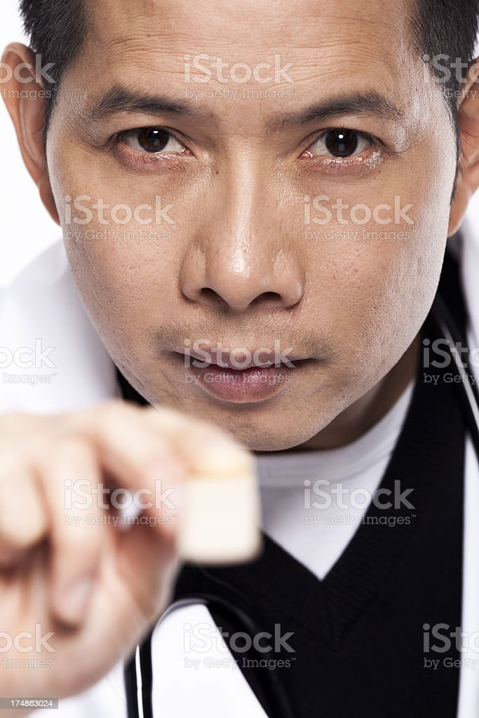 Doctor with spatula stock photo