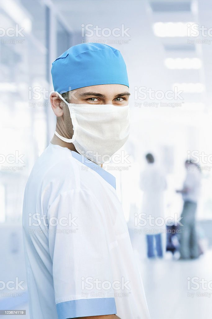 Doctor with surgical mask royalty-free stock photo