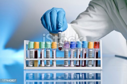 istock Doctor with test tube 177440807