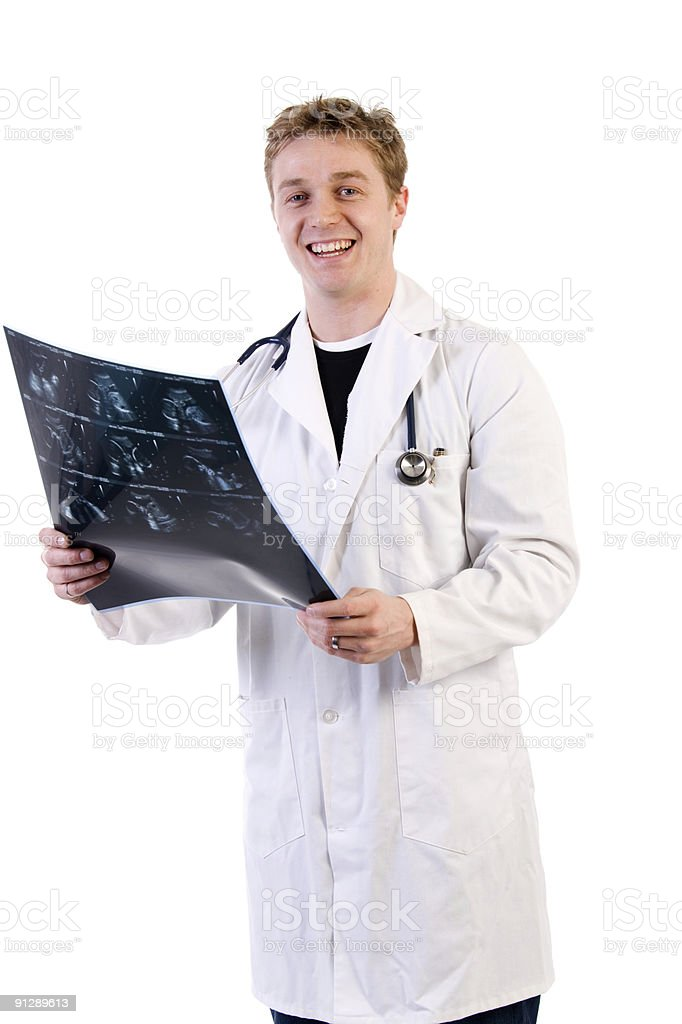 Doctor with Ultra Sound royalty-free stock photo
