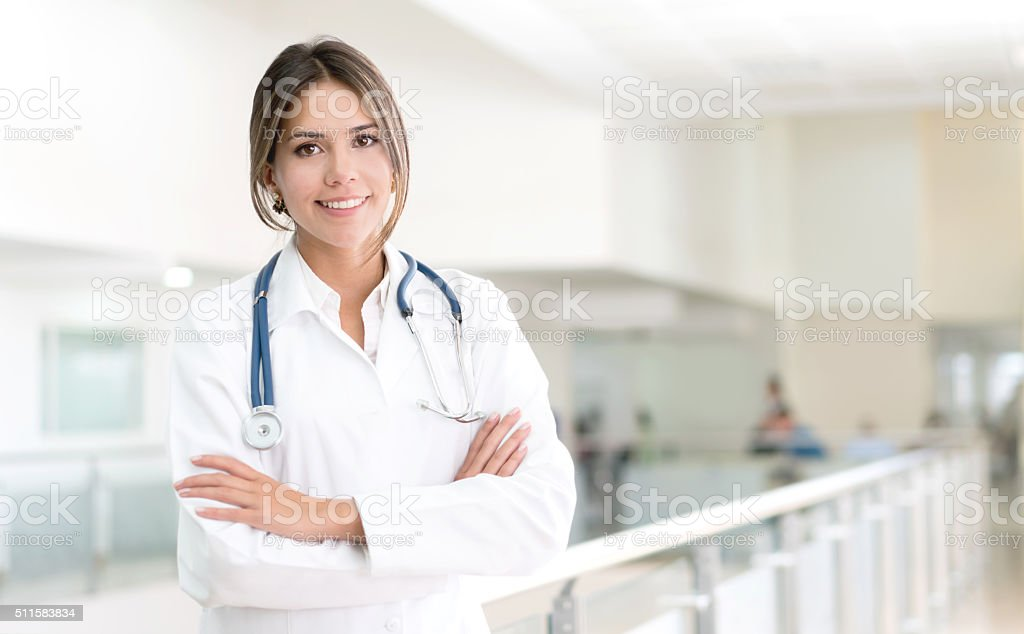 Doctor working at the hospital stock photo