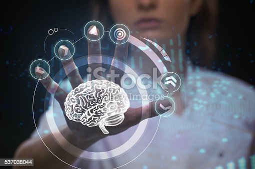 183306794istockphoto Doctor working with futuristic touch screen interface 537038044