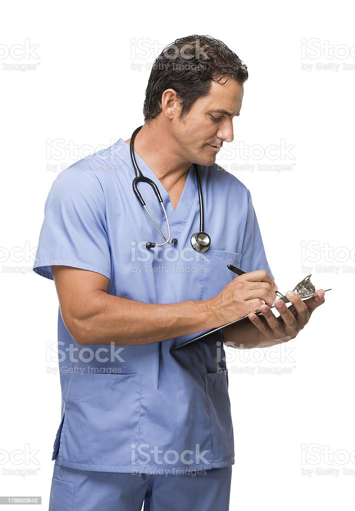 Doctor writing a prescription royalty-free stock photo