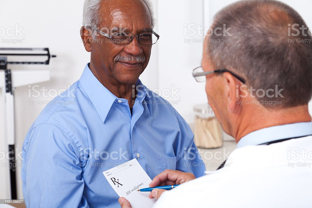 Doctor Writing Prescription royalty-free stock photo