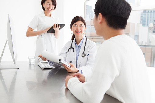 istock Doctors and nurses for medical examination with a smile 504602386