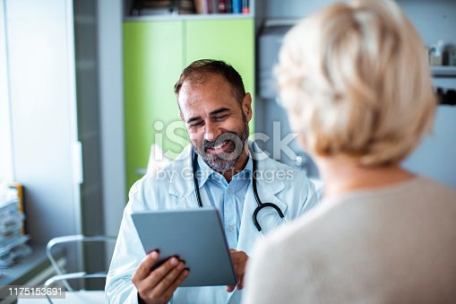 Close up a medical consultation between a doctor and his patient
